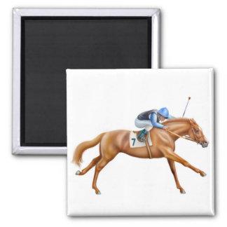 Thoroughbred-Rennpferd-Magnet Quadratischer Magnet