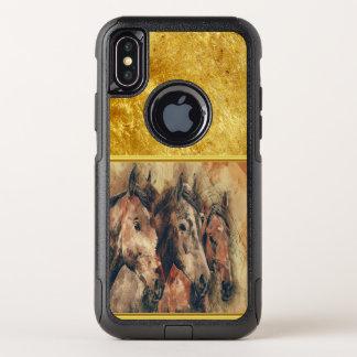 Thoroughbredpferde, die in ein Feld laufen OtterBox Commuter iPhone X Hülle