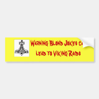 thors-Hammer-groß, können Warnungs-blonde Witze fü Autoaufkleber