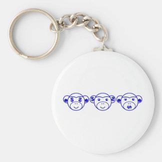 Three Unwise Monkeys (Dollar, blue) Schlüsselanhänger