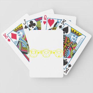 Three Unwise Monkeys (Pound, yellow) Bicycle Spielkarten