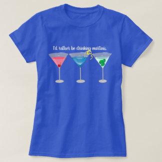 Threetinis sortierte Martini-T - Shirt
