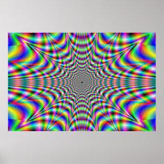 throbbing - optische Täuschung Posterdrucke