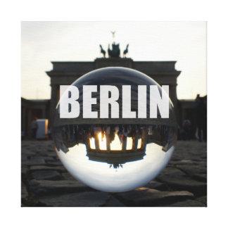Through the crystal ball, Brandenburg Gate Leinwanddruck
