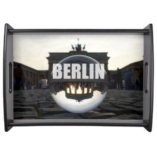 Through the crystal ball, Brandenburg Gate Serviertablett