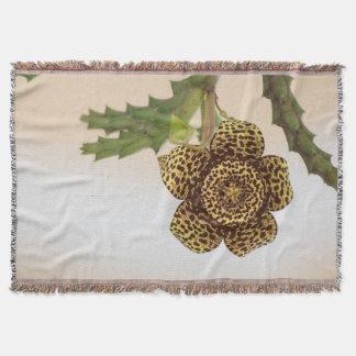 Throw-Decke mit Blume Decke