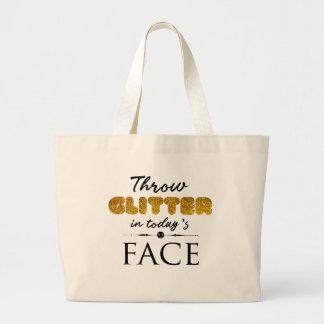 Throw-Glitter im heutigen Gesicht Jumbo Stoffbeutel
