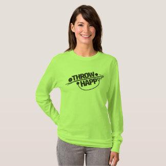 Throw-glückliche Bahn und Feld-Shirt T-Shirt