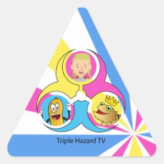 THTV Aufkleber-Satz Dreieckiger Aufkleber