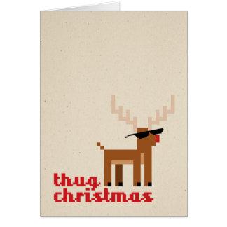 Thug Life Deer Christmas Xmas Greeting card Karte