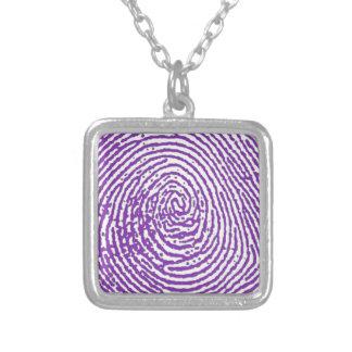 thumbprint FINGERABDRUCK Halskette Mit Quadratischem Anhänger