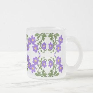 Thunbergia-tropische Blumen-Rebe-Tasse Matte Glastasse