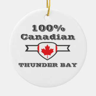 Thunder Bay 100% Rundes Keramik Ornament