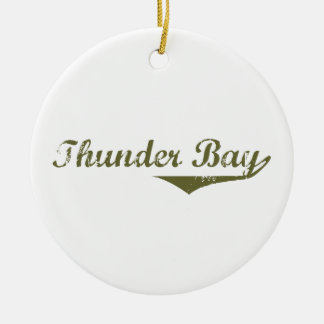 Thunder Bay Rundes Keramik Ornament