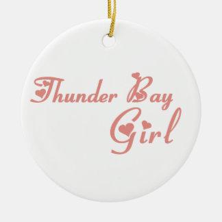Thunder- Baymädchen Rundes Keramik Ornament