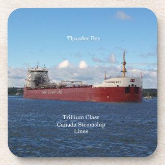 Thunder- BaySet von 6 harten PlastikUntersetzer Untersetzer
