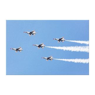Thunderbirds F-16, welche die Fünfkarte Bildung Gespannter Galeriedruck
