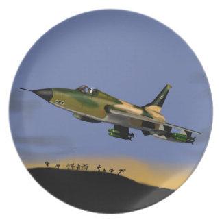 Thunderchief F105 Jagdbomber Party Teller