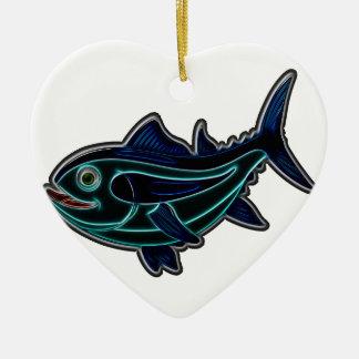 Thunfisch Keramik Ornament