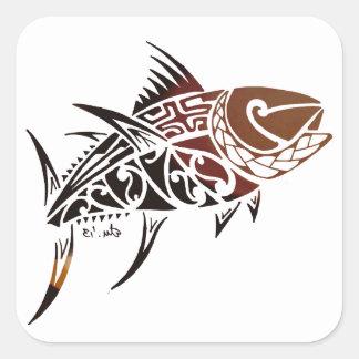 Thunfisch Quadratischer Aufkleber