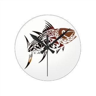 Thunfisch Runde Wanduhr
