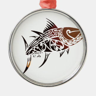 Thunfisch Silbernes Ornament