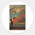 Thurston - das verschwindende Whippet Runder Aufkleber