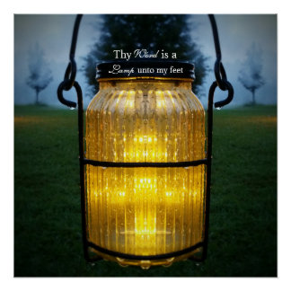 Thy Wort ist eine Lampe zu meiner Poster