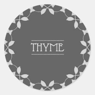 Thymian-Gewürz-Glas-Aufkleber-Aufkleber Runder Aufkleber