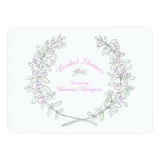 Thymian Wreath-Kunst-Brautparty laden ein 16,5 X 22,2 Cm Einladungskarte