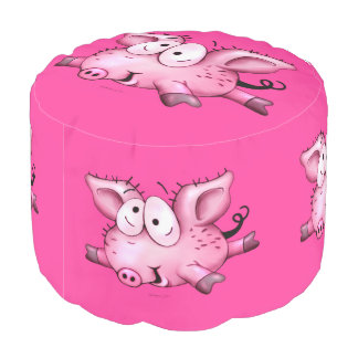 Ti SCHWEIN-CARTOON starkes gesponnenes Polyester 2 Hocker