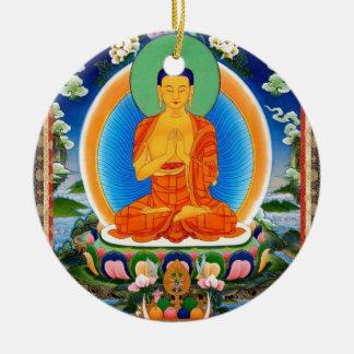 Tibetaner Thangka Prabhutaratna Buddha Keramik Ornament