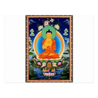 Tibetaner Thangka Prabhutaratna Buddha Postkarte