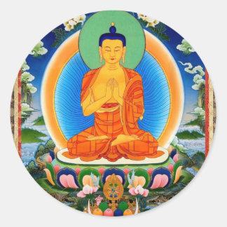Tibetaner Thangka Prabhutaratna Buddha Runder Aufkleber