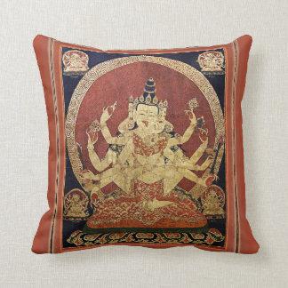 Tibetaner Thangka von Guhyasamaja Akshobhyavajra Kissen
