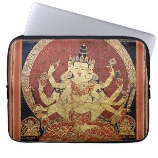 Tibetaner Thangka von Guhyasamaja Akshobhyavajra Laptopschutzhülle