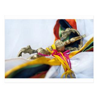 Tibetaner Vajra Postkarte