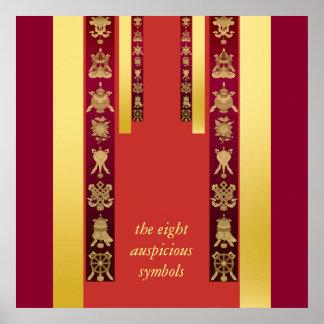 Tibetanische günstige Symbole Tibets Poster