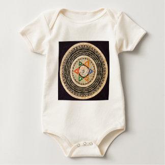 Tibetanische Mandala-Kunst (Gold u. Schwarzes) Baby Strampler