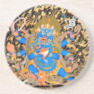 Tibetanischer buddhistischer Kunst-Druck Untersetzer