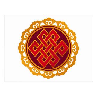 Tibetanischer Karma-Buddhismus-ewiger Knoten Postkarte