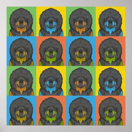 Tibetanischer Mastiff-HundeCartoon Pop-Kunst Plakat