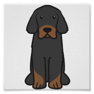 Tibetanischer Mastiff-HundeCartoon Plakatdruck