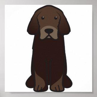 Tibetanischer Mastiff-HundeCartoon Poster