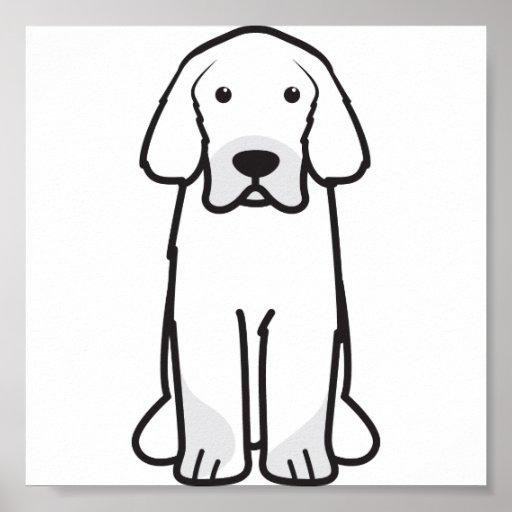 Tibetanischer Mastiff-HundeCartoon Posterdruck