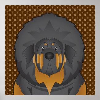 Tibetanischer Mastiff-HundeCartoon-Tatzen Plakatdrucke