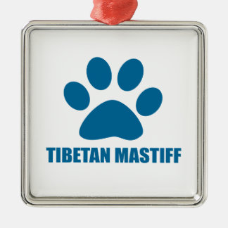 TIBETANISCHER MASTIFF-HUNDEentwürfe Silbernes Ornament