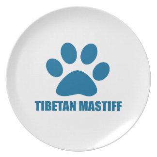 TIBETANISCHER MASTIFF-HUNDEentwürfe Teller