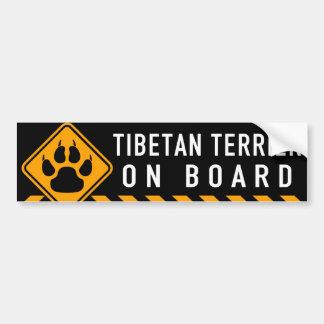 Tibetanisches Terrier an Bord Autoaufkleber