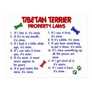 TIBETANISCHES TERRIER-Eigentums-Gesetze 2 Postkarte